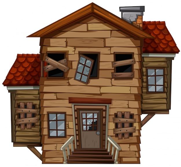 Casa de madera con mal estado descargar vectores gratis - Ver casas de madera ...