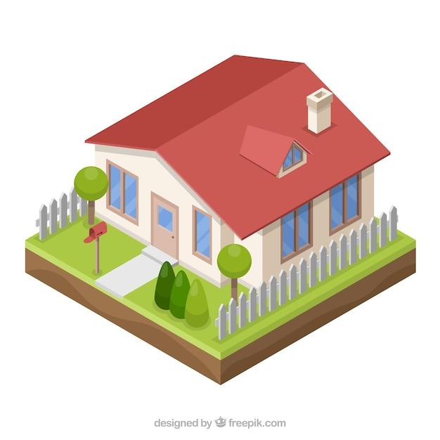 Casa en estilo 3d descargar vectores gratis for Simulador de casas 3d gratis