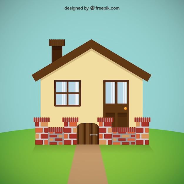 Casa linda descargar vectores gratis for Casa moderna vector