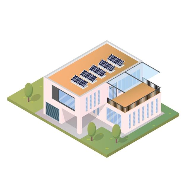 Casa moderna isometrica descargar vectores gratis - Progettare casa 3d gratis ...