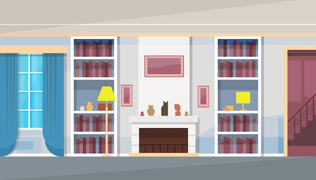 Casa moderna sala de estar interior Vector Premium