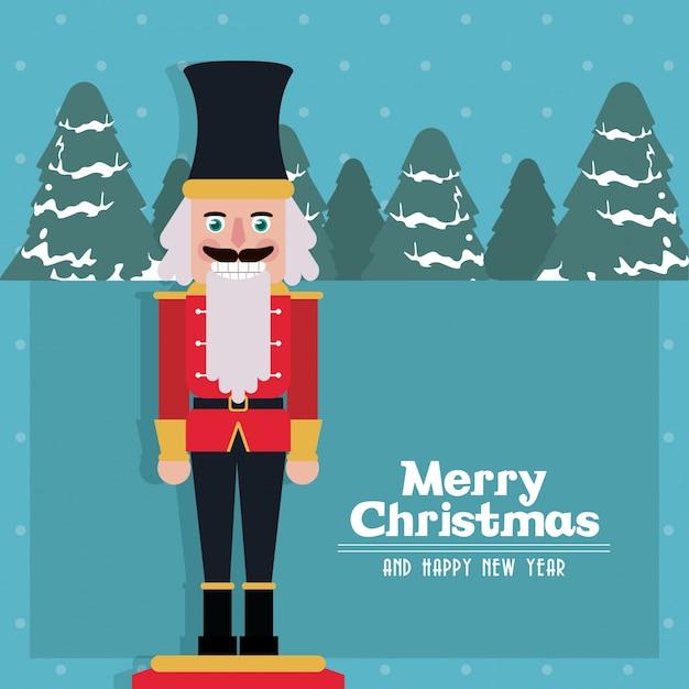 Cascanueces feliz navidad | Descargar Vectores Premium