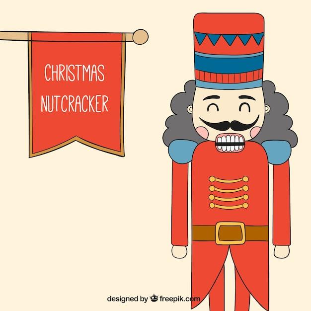 Cascanueces navideño dibujado a mano | Descargar Vectores Premium