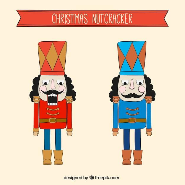 Cascanueces navideños dibujados a mano | Descargar Vectores gratis