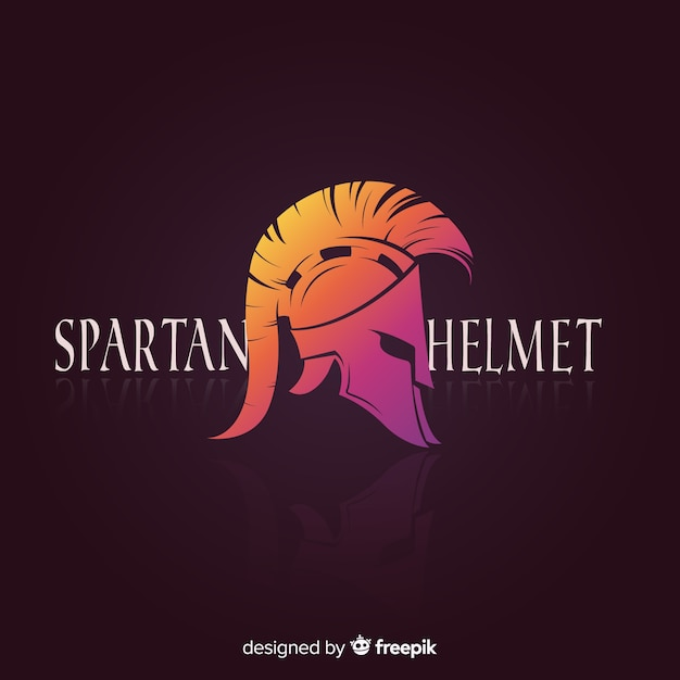 Casco espartano clásico con estilo de degradado vector gratuito