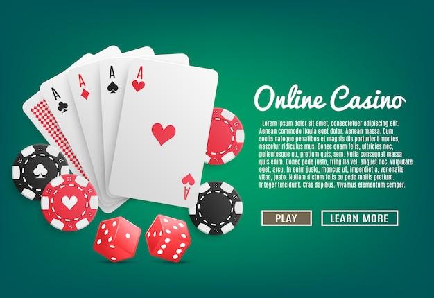 Casino en línea realista vector gratuito