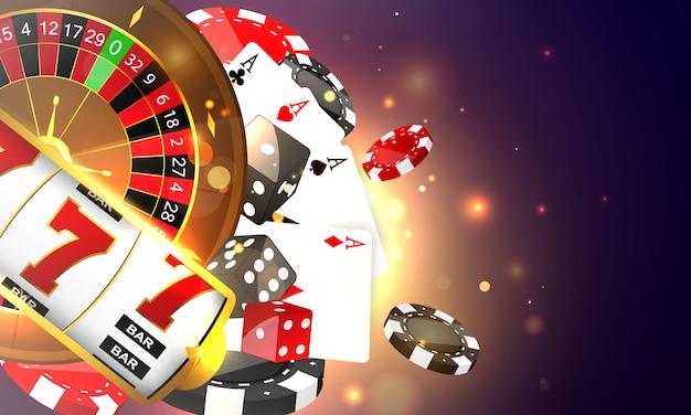 Casino online. teléfono inteligente o teléfono móvil, máquina tragamonedas,  fichas de casino con fichas realistas para juegos de azar, efectivo para  ruleta o póker,   Vector Premium
