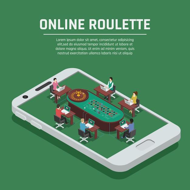 Casino online vector gratuito