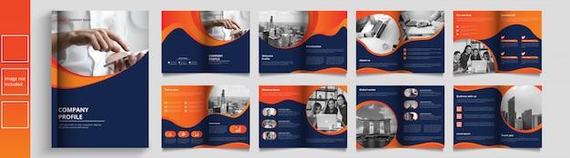 Catálogo de negocios moderno o plantilla de booket Vector Premium