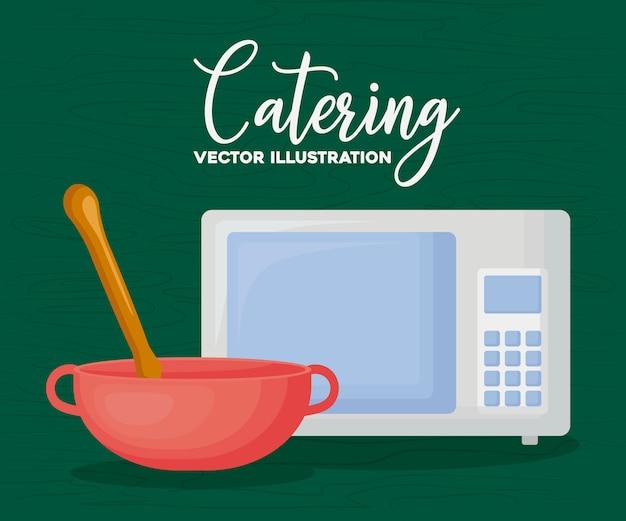 Catering y cocina vector gratuito