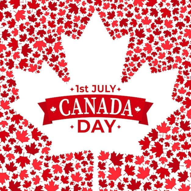 Celebración del día de canadá vector gratuito