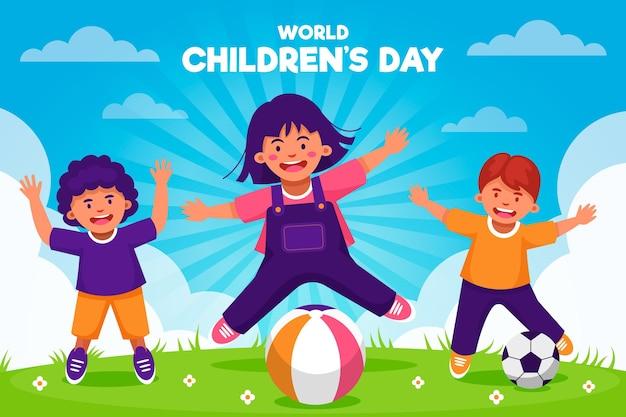 Celebrando el día mundial del niño vector gratuito