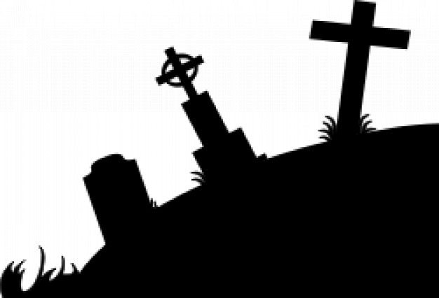 cementerio silueta Vector Gratis