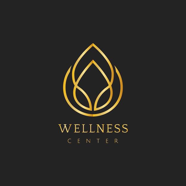 Centro de bienestar diseño logo vector vector gratuito