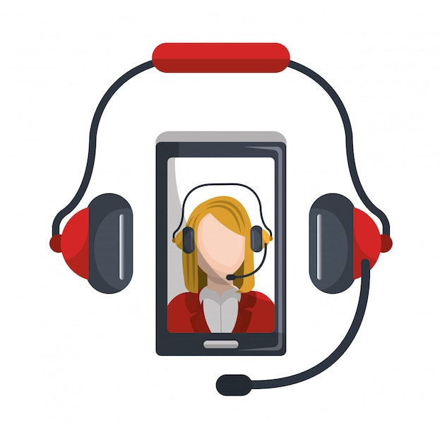 Centro de llamadas vector gratuito