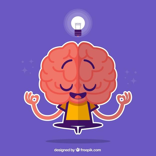 Cerebro personaje vector gratuito