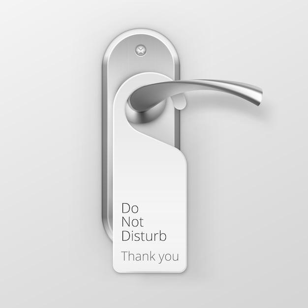 Cerradura de manija de puerta de metal con percha aislada Vector Premium