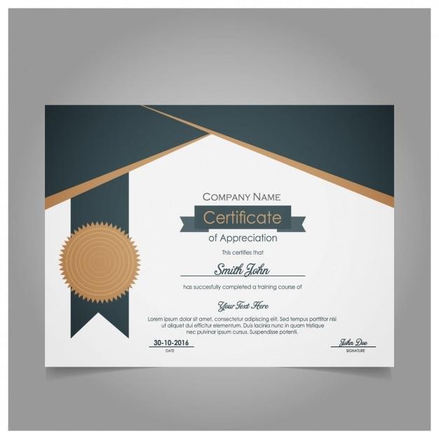 Certificado de agradecimiento moderno | Descargar Vectores ...