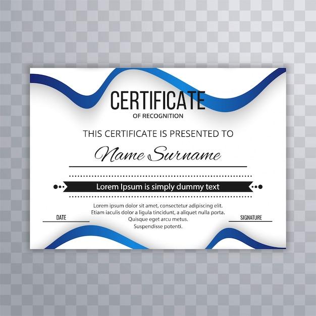 Certificado de plantilla premium premios diploma con diseño de ...