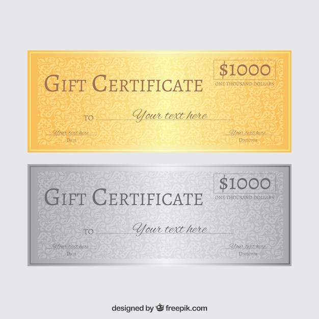 Certificado de regalo | Descargar Vectores gratis