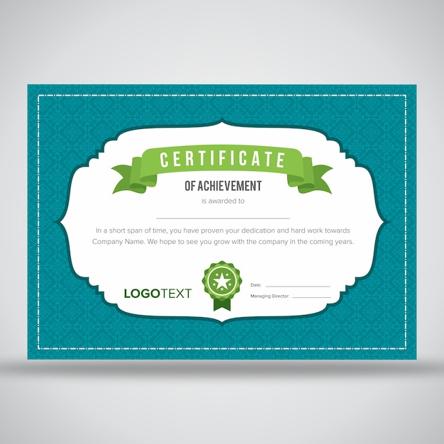 Certificado enmarcado azul claro creativo | Descargar Vectores Premium