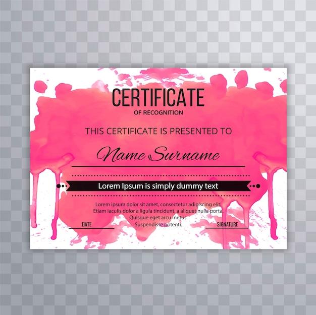 Certificado plantilla premium premios diploma colorido diseño de ...