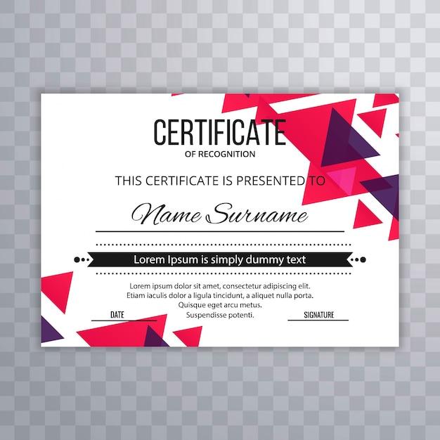 Certificado plantilla premium premios diploma colorido vector ...