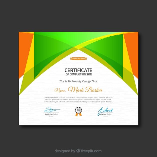 Certificado | Descargar Vectores Premium