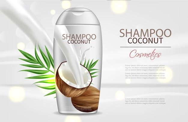 Champu de coco Vector Premium