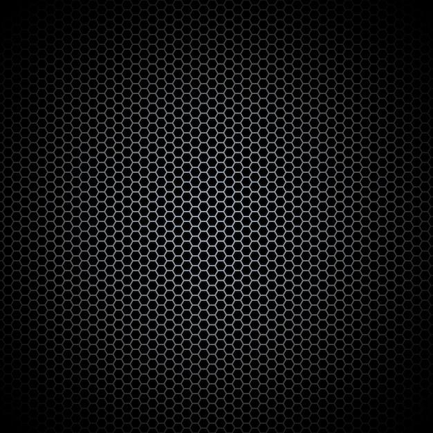 Chapa perforada. textura de metal oscuro fondo de acero. Vector Premium