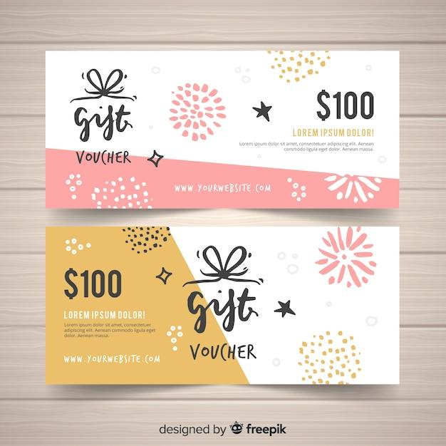 Cheque regalo de 100 dólares vector gratuito