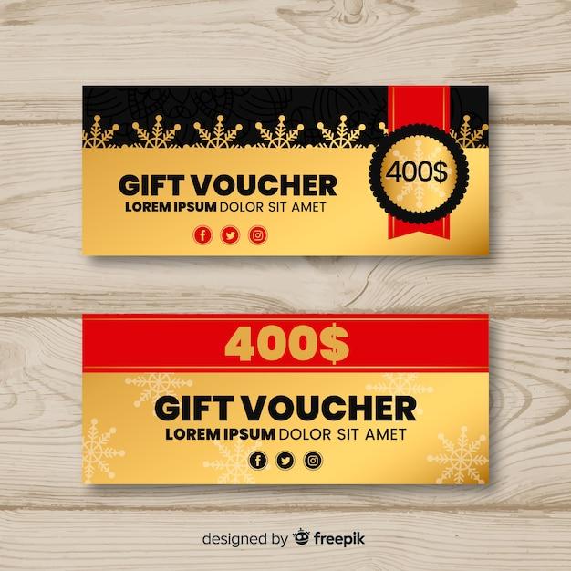 Cheque regalo de 400 dólares vector gratuito