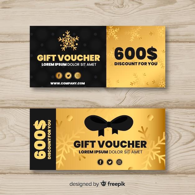 Cheque regalo de 600 dólares vector gratuito