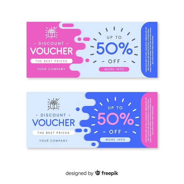 Cheque regalo mancha vector gratuito
