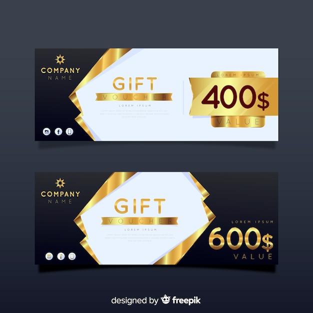 Cheque regalo vector gratuito