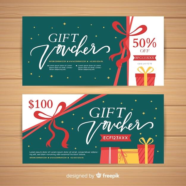 Cheque regalo Vector Premium