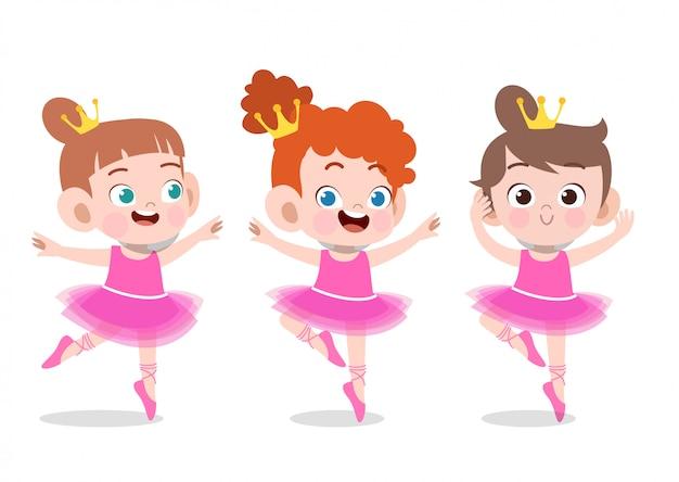 Chicas bailando Vector Premium