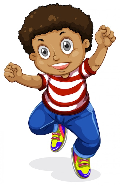 Un chico alegre personaje vector gratuito