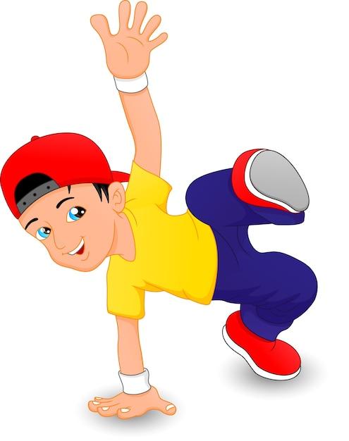Chico de breakdance   Vector Premium