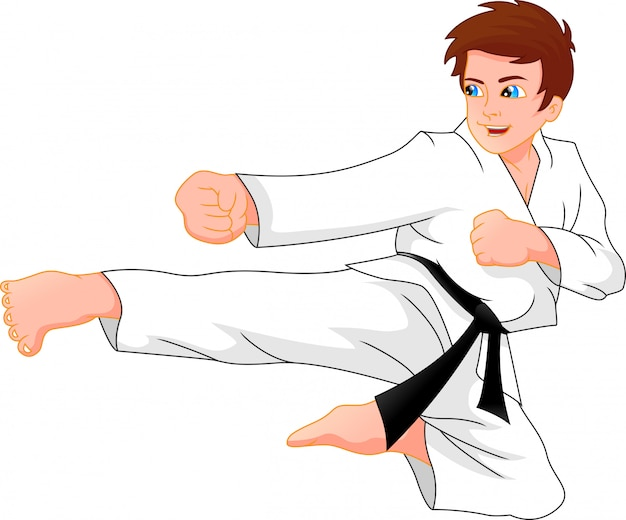 Chico de karate Vector Premium