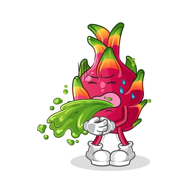 Chili vomitar dibujos animados. mascota de dibujos animados Vector Premium