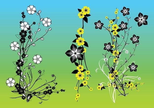 Chino flores de arte vectorial vector gratuito