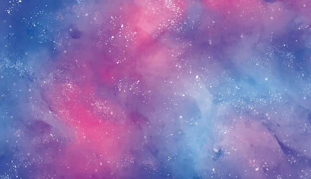 Cielo estelar de fondo en acuarela vector gratuito