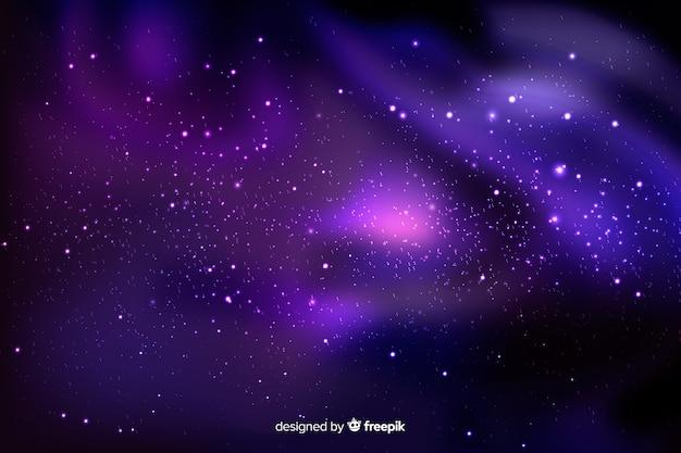 Cielo morado con fondo de estrellas vector gratuito