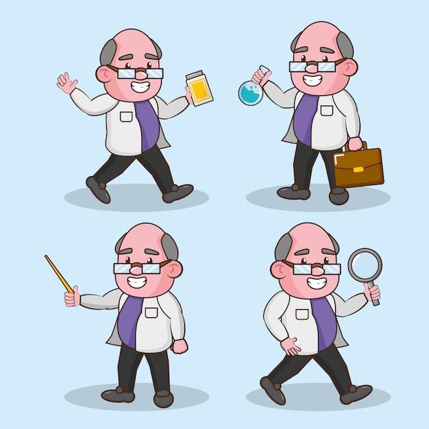Ciencia de laboratorio científico vector gratuito
