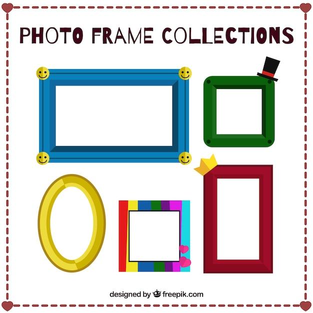 Cinco divertidos marcos de fotos   Descargar Vectores gratis
