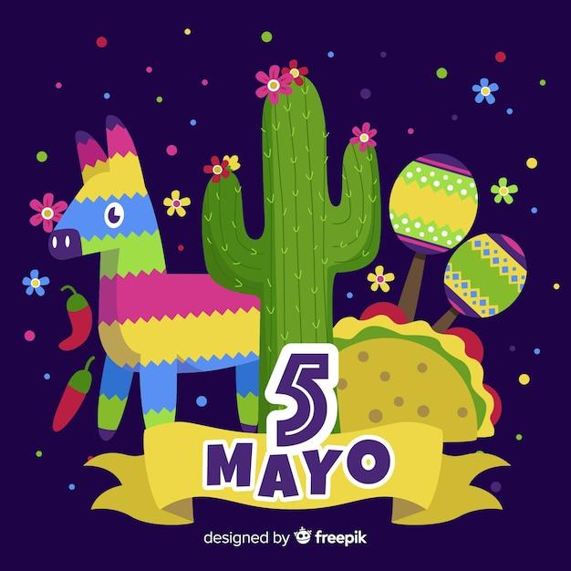 Cinco de mayo vector gratuito