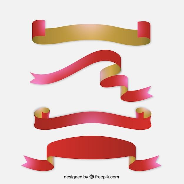 Cintas de navidad de dos colores descargar vectores gratis for Cintas de navidad