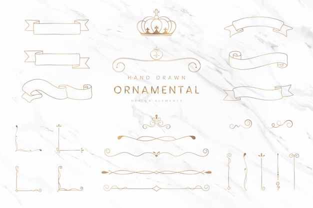 Cintas y separadores ornamentales. vector gratuito