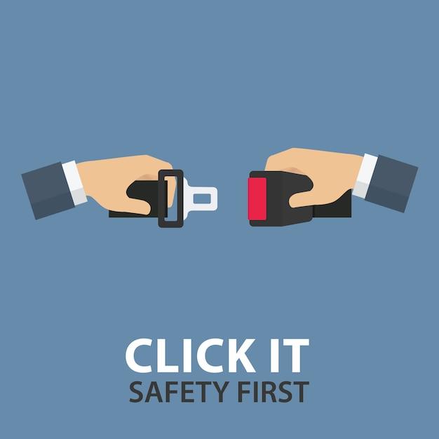 Cinturón de seguridad Vector Premium